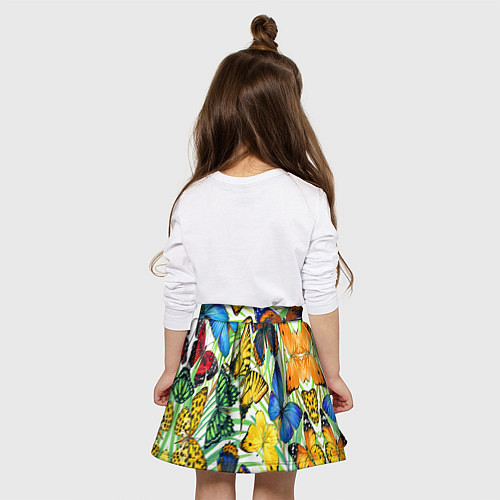 Детская юбка-солнце Тропические бабочки / 3D – фото 4