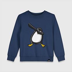 Свитшот хлопковый детский DAB Pinguin цвета тёмно-синий — фото 1