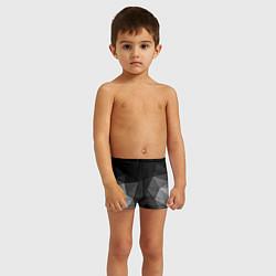 Плавки для мальчика Abstract gray цвета 3D — фото 2