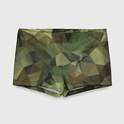 Плавки для мальчика Полигональный камуфляж цвета 3D — фото 1