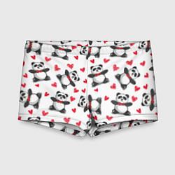 Плавки для мальчика Любимые панды цвета 3D — фото 1