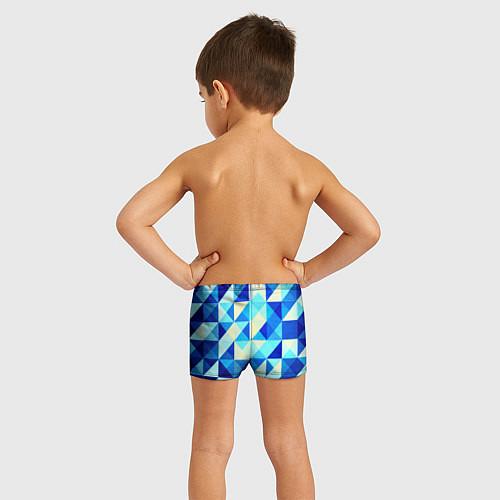 Детские плавки Синяя геометрия / 3D – фото 4