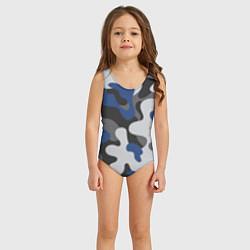 Купальник для девочки Зимний камуфляж цвета 3D — фото 2
