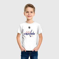 Футболка хлопковая детская Washington Capitals: Ovechkin 8 цвета белый — фото 2