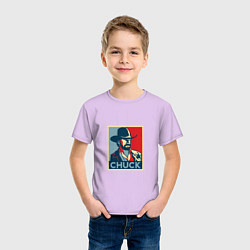 Футболка хлопковая детская Chuck Poster цвета лаванда — фото 2