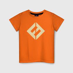 Футболка хлопковая детская Concrete & Gold цвета оранжевый — фото 1