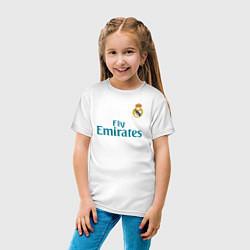 Футболка хлопковая детская Real Madrid: Ronaldo 07 цвета белый — фото 2