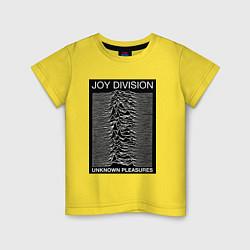 Футболка хлопковая детская Joy Division: Unknown Pleasures цвета желтый — фото 1