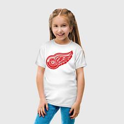 Футболка хлопковая детская Detroit Red Wings: Pavel Datsyuk цвета белый — фото 2