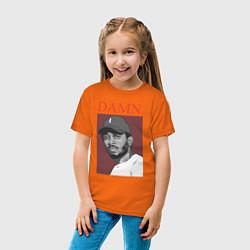 Футболка хлопковая детская Kendrick Lamar: DAMN цвета оранжевый — фото 2