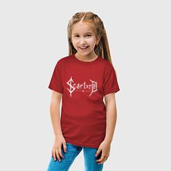 Футболка хлопковая детская Scarlxrd цвета красный — фото 2