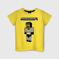 Футболка хлопковая детская Minecraft Batman цвета желтый — фото 1