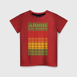 Футболка хлопковая детская Armin van Buuren: EQ цвета красный — фото 1
