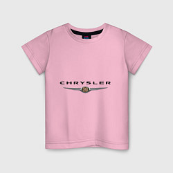 Футболка хлопковая детская Chrysler logo цвета светло-розовый — фото 1