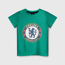 Футболка хлопковая детская Chelsea FC цвета зеленый — фото 1
