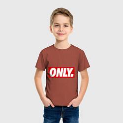 Футболка хлопковая детская Only Obey цвета кирпичный — фото 2