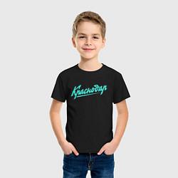 Футболка хлопковая детская Краснодар: стрела цвета черный — фото 2