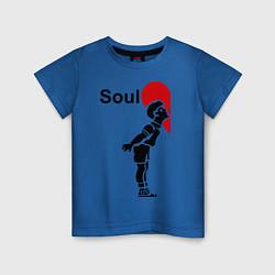 Футболка хлопковая детская Soul Mate: Boy цвета синий — фото 1