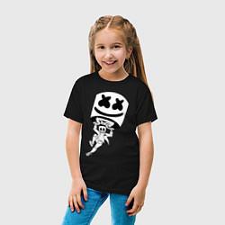Футболка хлопковая детская Marshmello King цвета черный — фото 2