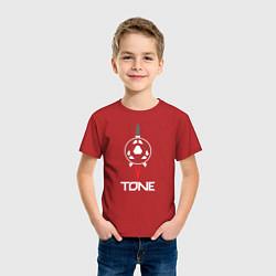 Футболка хлопковая детская TONE цвета красный — фото 2