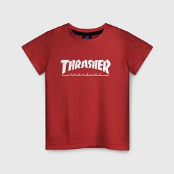 Футболка хлопковая детская Thrasher Magazine цвета красный — фото 1