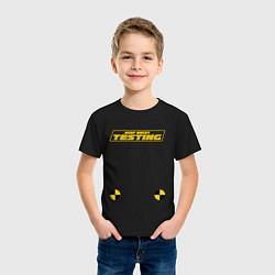 Футболка хлопковая детская ASAP Rocky Testing цвета черный — фото 2