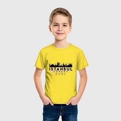 Футболка хлопковая детская Стамбул - Турция цвета желтый — фото 2