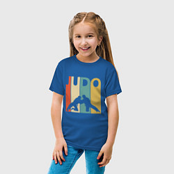 Футболка хлопковая детская Judo цвета синий — фото 2