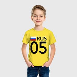 Футболка хлопковая детская RUS 05 цвета желтый — фото 2