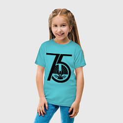 Футболка хлопковая детская The Hunger Games 75 цвета бирюзовый — фото 2