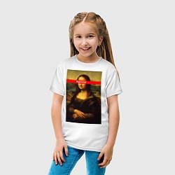 Футболка хлопковая детская Supreme Mona цвета белый — фото 2