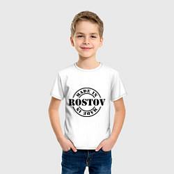 Футболка хлопковая детская Made in Rostov цвета белый — фото 2