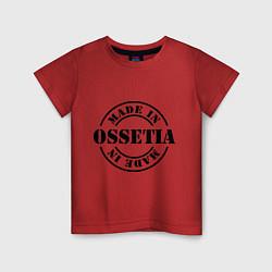 Футболка хлопковая детская Made in Ossetia цвета красный — фото 1