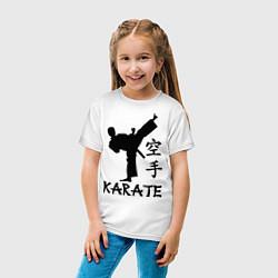 Футболка хлопковая детская Karate craftsmanship цвета белый — фото 2