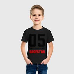 Футболка хлопковая детская 05 Dagestan цвета черный — фото 2