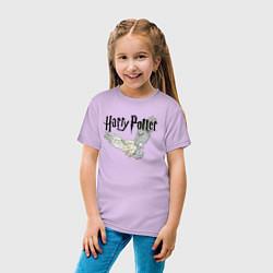 Футболка хлопковая детская Гарри Поттер: Букля цвета лаванда — фото 2