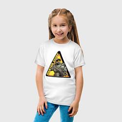 Футболка хлопковая детская Halo цвета белый — фото 2
