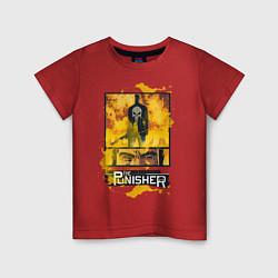 Футболка хлопковая детская The Punisher цвета красный — фото 1