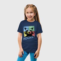 Футболка хлопковая детская ROCKET цвета тёмно-синий — фото 2