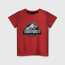 Футболка хлопковая детская Jurassic World цвета красный — фото 1
