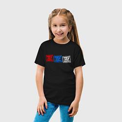 Футболка хлопковая детская ДДТ Z цвета черный — фото 2