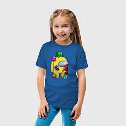 Футболка хлопковая детская Among Us Impostor цвета синий — фото 2