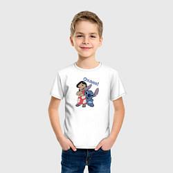 Футболка хлопковая детская Охана! цвета белый — фото 2