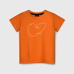 Футболка хлопковая детская Макс Барских: Моя любовь цвета оранжевый — фото 1