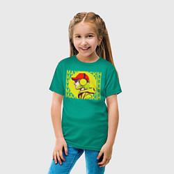 Футболка хлопковая детская Max Barskih цвета зеленый — фото 2