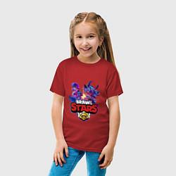 Футболка хлопковая детская STAR FORCE BRAWL STARS цвета красный — фото 2