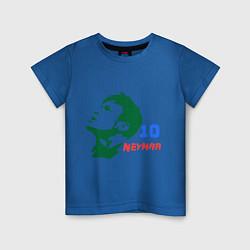 Футболка хлопковая детская Neymar 10 цвета синий — фото 1