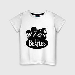 Футболка хлопковая детская The Beatles Band цвета белый — фото 1