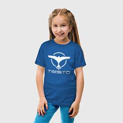 Футболка хлопковая детская Tiesto цвета синий — фото 2
