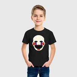 Футболка хлопковая детская Puppet FNAF Марионетка цвета черный — фото 2